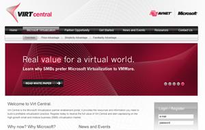 Avnet VirtCentral–Mircosite