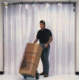 Strip Curtain Doors With Pvc Strips And Universal Hardware For
