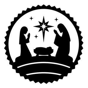 Nativity Circle Jesus Nativity Silhouette Christmas