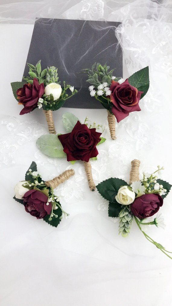 Artificial Wedding Bouquets Burgundy