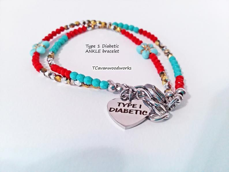Type One Diabetic Ankle Bracelet