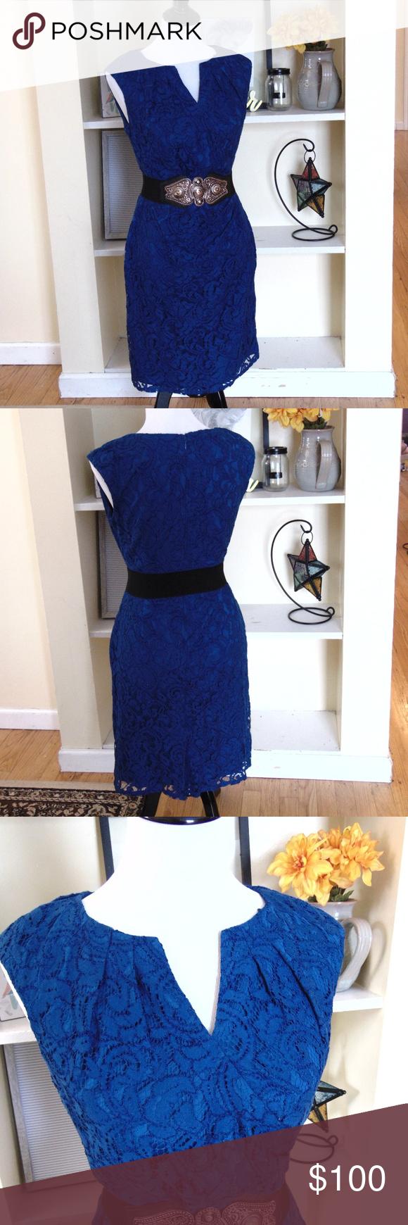 297 Adrianna Papell Knee Length Lace Sheath Dress Lace Sheath Dress Dresses Colorful Dresses