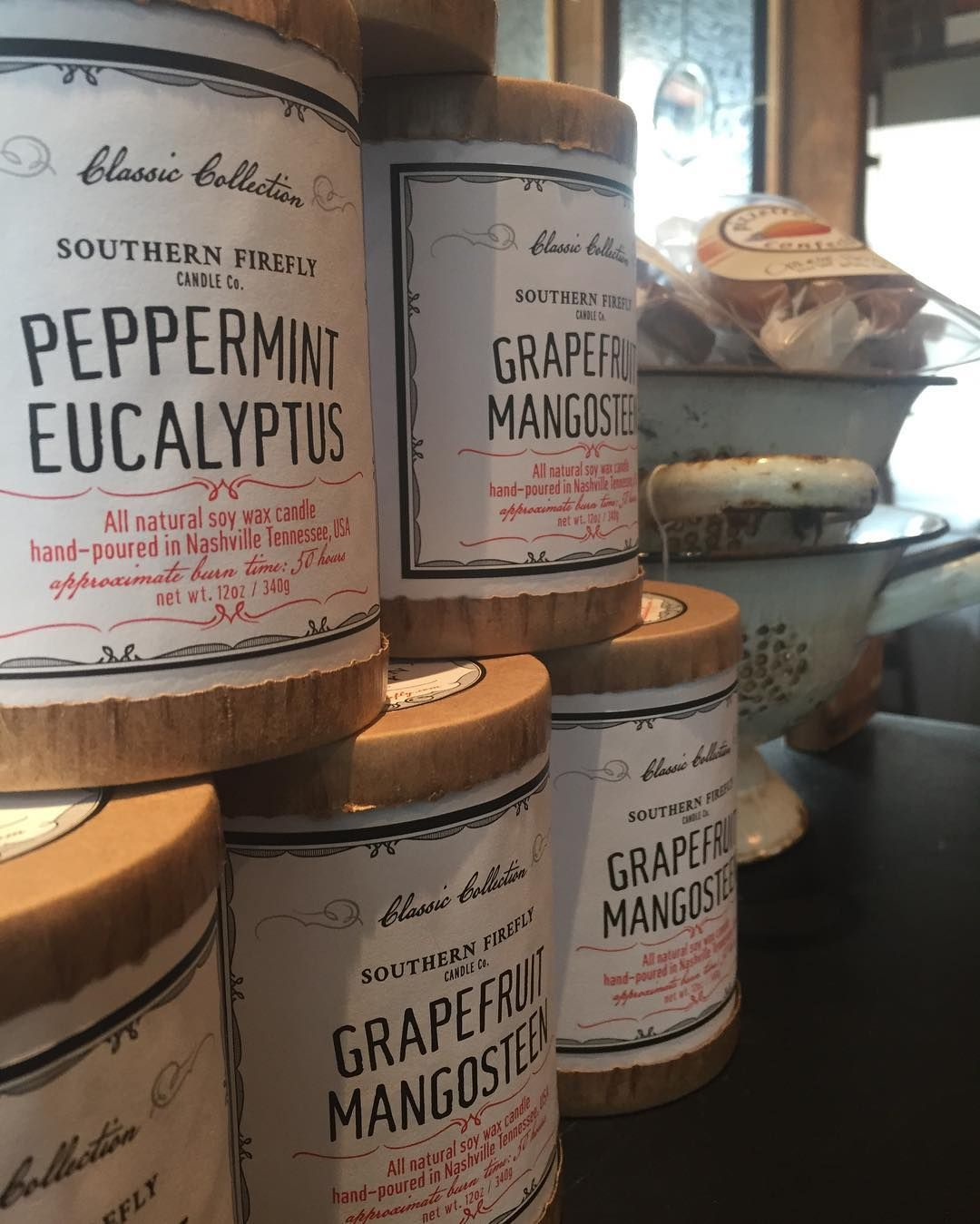 Peppermint Eucalyptus Candles from southernfireflycandle