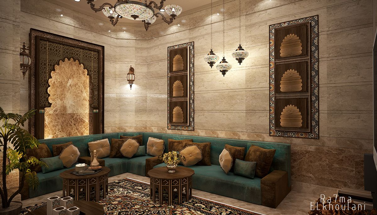moroccan living room moroccan sitting room on behance interiors arabic 10137