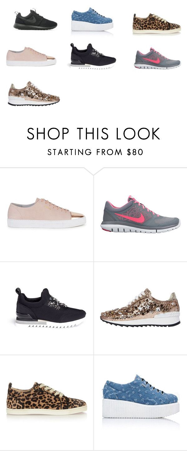 """""""SNEAKERS"""" by giovana-stecanella on Polyvore featuring moda, Axel Arigato, NIKE, Tory Burch, Casadei, Christian Louboutin e Karl Lagerfeld"""