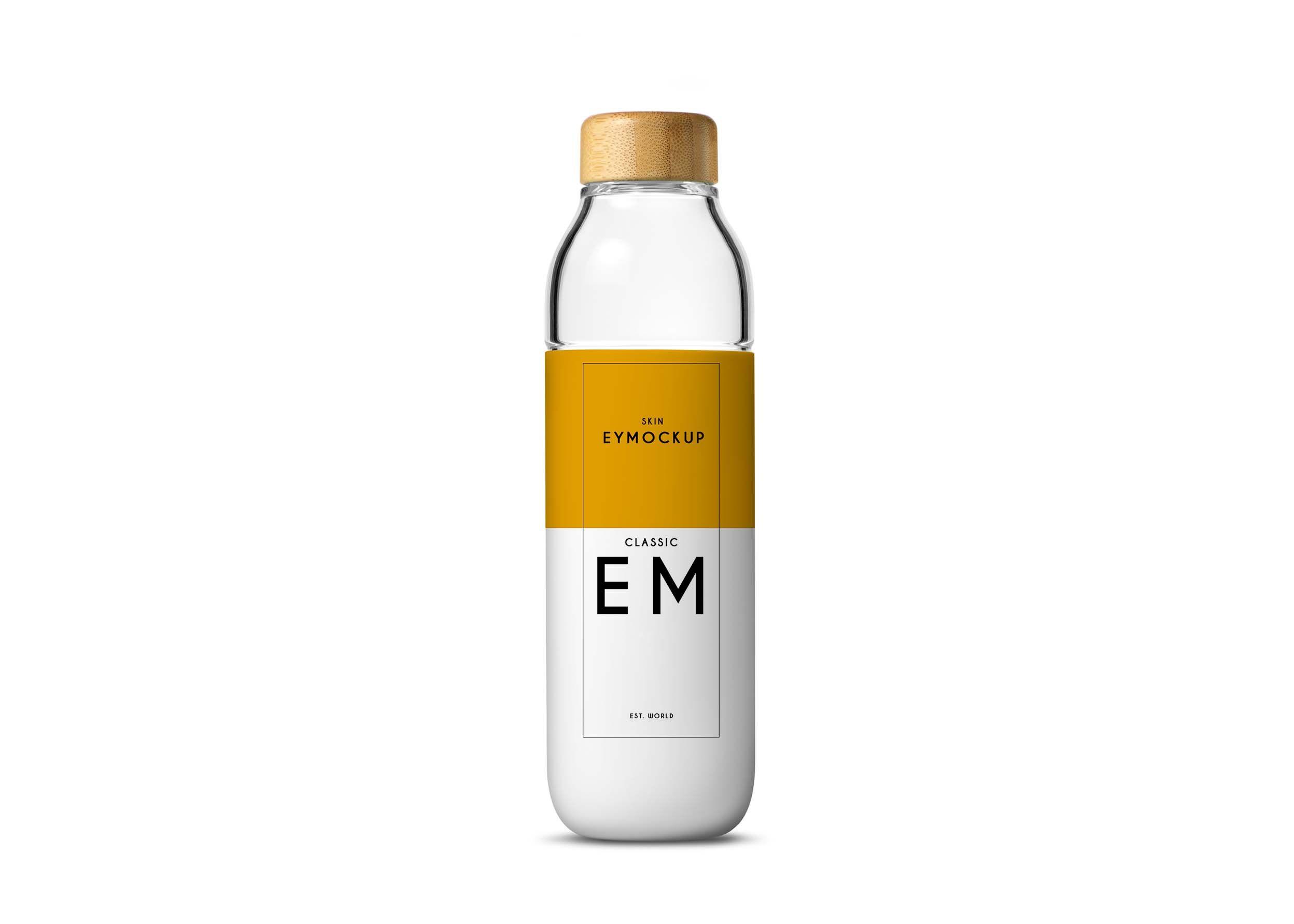 Download New Mineral Water Bottle Label Mockup Bottle Mockup Bottle Mockup Free Psd
