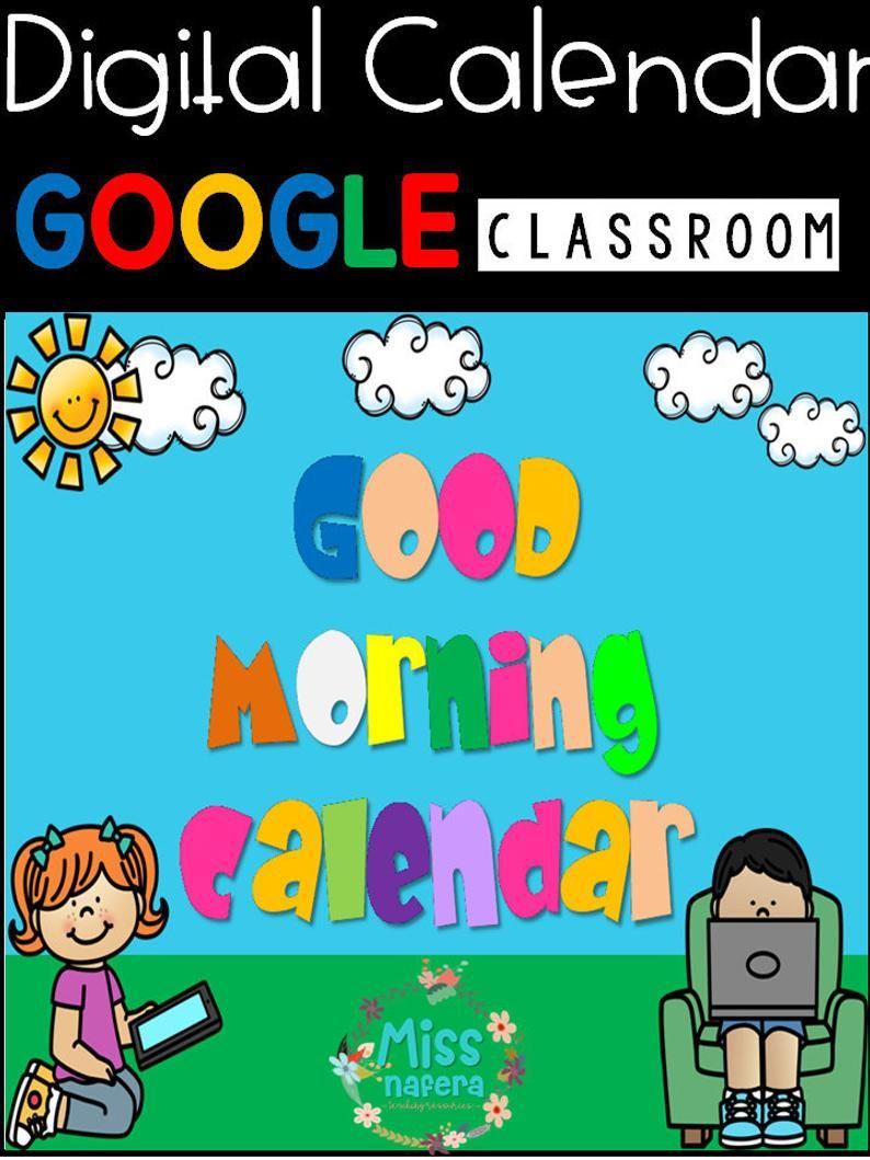 Back To School Digital Calendar Google Slides Google