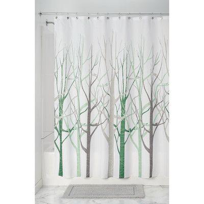 Ebern Designs Woollard Floral Single Shower Curtain Wayfair