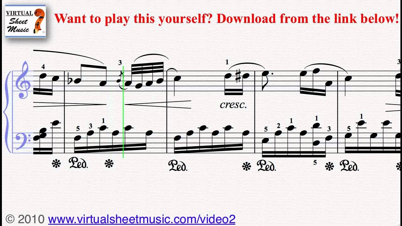 Beethoven S Fur Elise Piano Sheet Music Video Score Piano