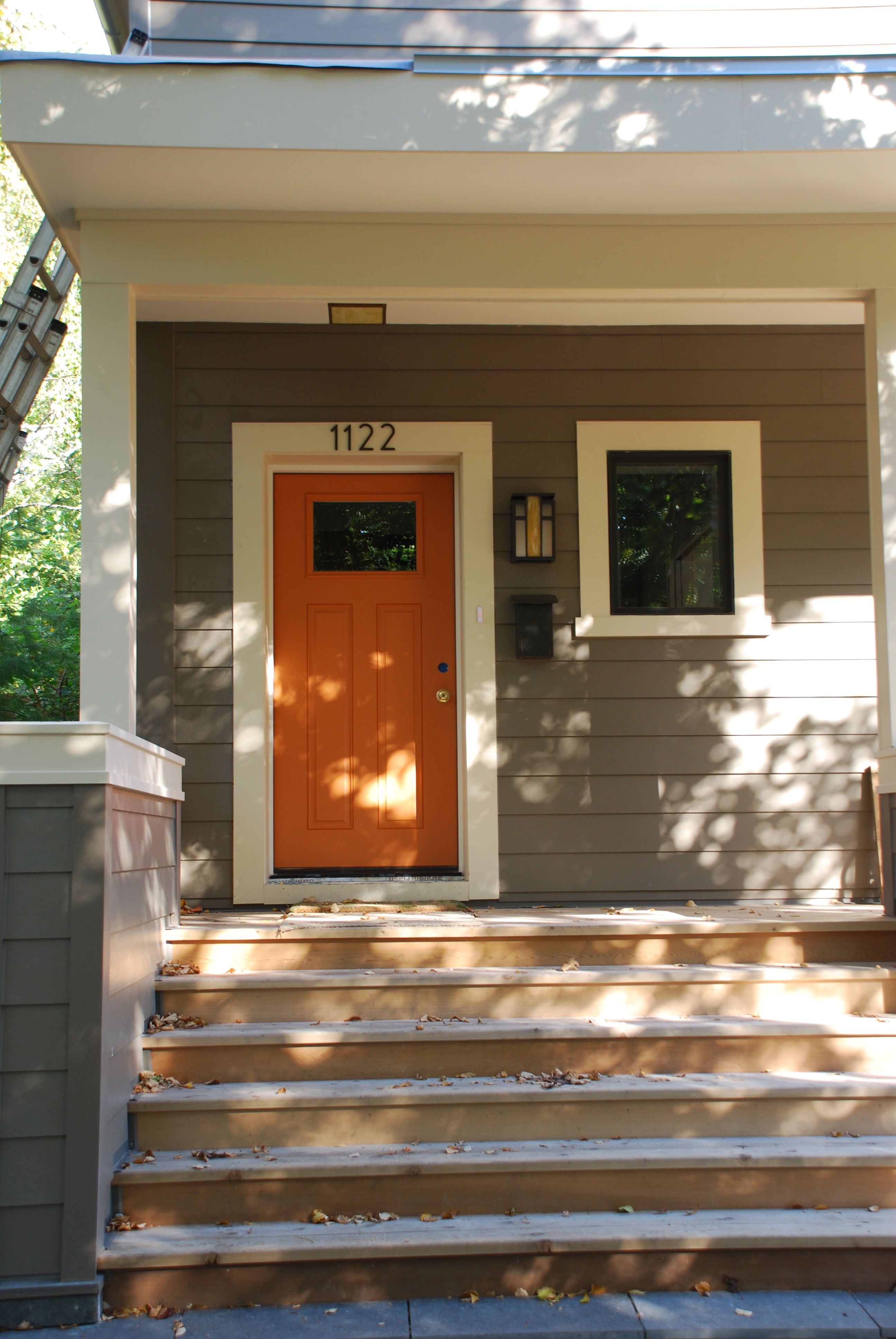 Front Door Color Grey Siding