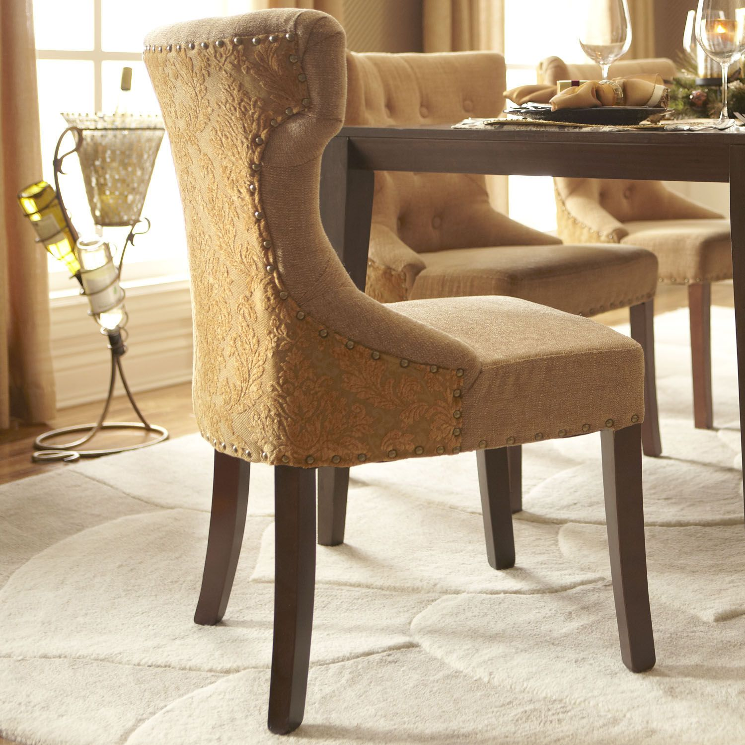 Hourglass Dining Chair Gold Damask Pier 1 Imports This Chair