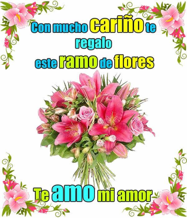Ramo De Flores Con Frases Frases Con Fotos Amor