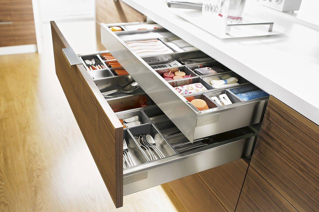 Drawer Within A Drawer Kitchen Google Search Metal Kitchen Cabinets Kitchen Drawer Organization Modern Kitchen Cabinets