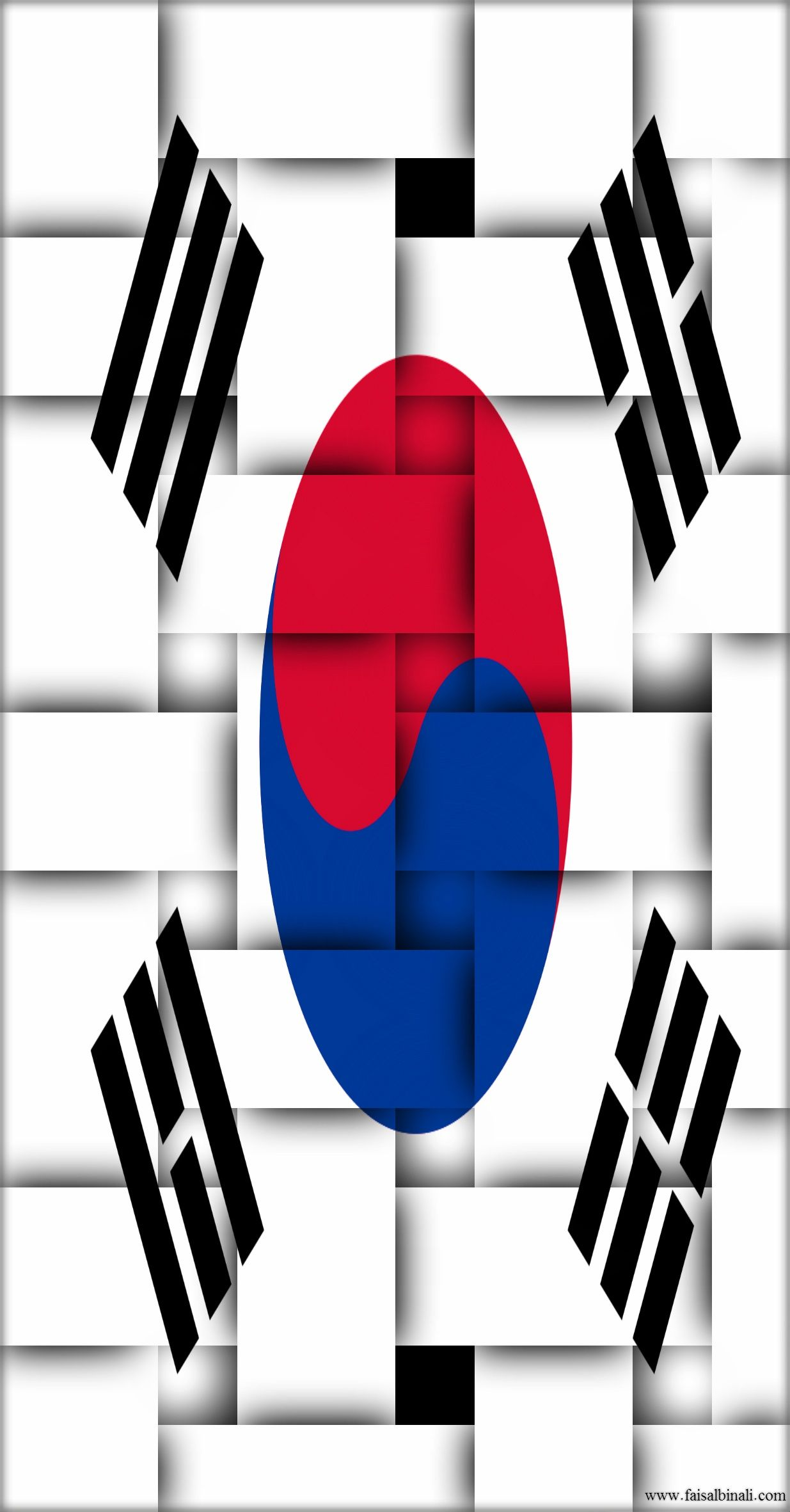 Southkorea Flags Artwork Wallpapers For Smartphones Tablets