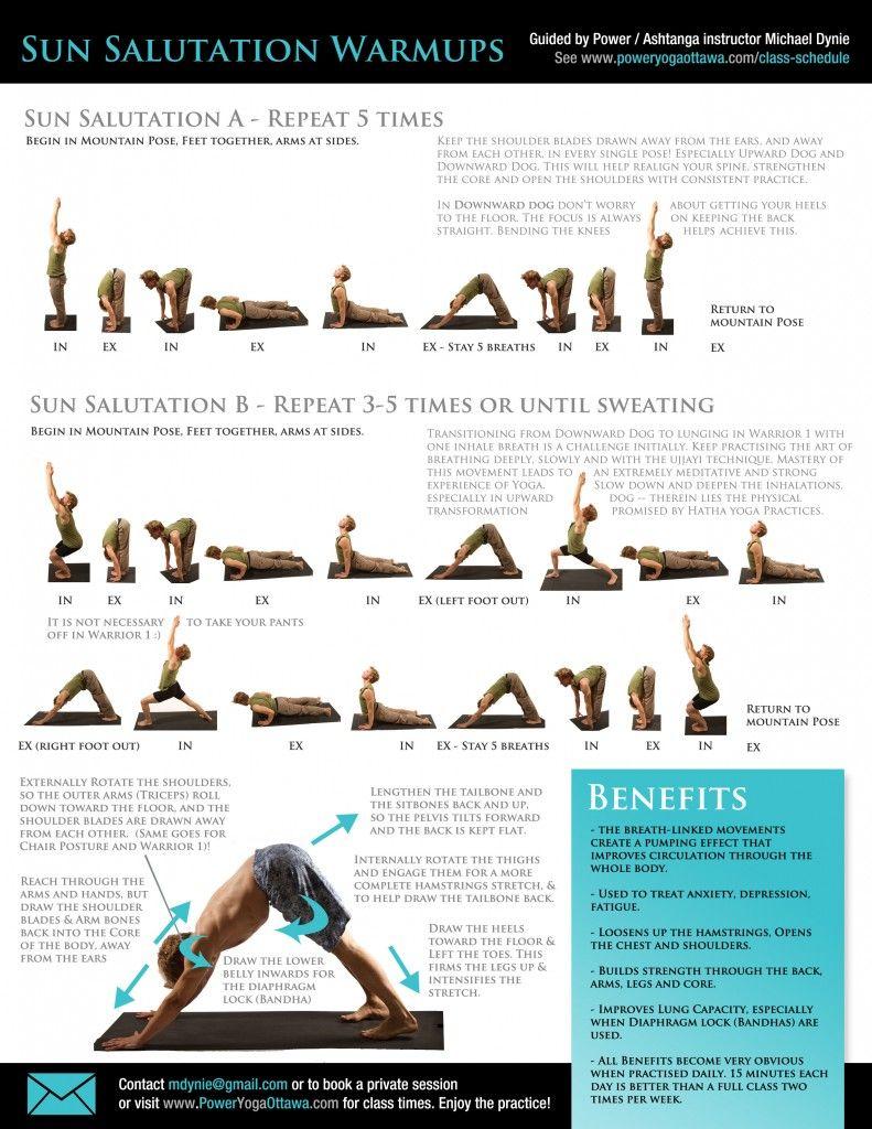 Sun Salutation A B Practice Sheets Free Download Mike Dynie Yoga Sun Salutation Yoga Sun Salutation Yoga