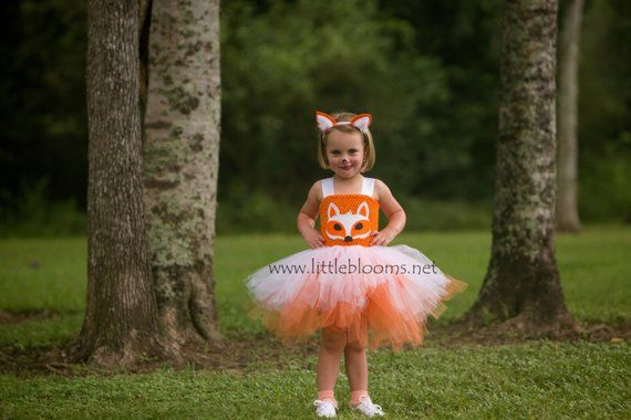 Little girls fox costume kids, Fox tutu dress for girls, Toddler girl Thanksgiving outfit, Halloween costume kids, Fox ears headband, Best #thanksgivingoutfit