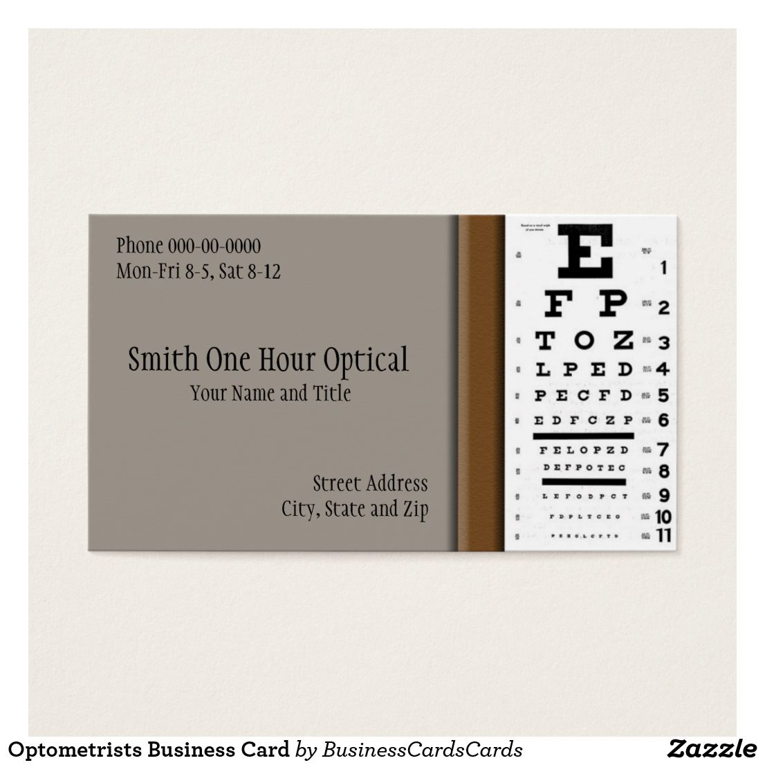 Optometrists Business Card Zazzle Com In 2021 Doctor Business Cards Optometrist Business Card Design