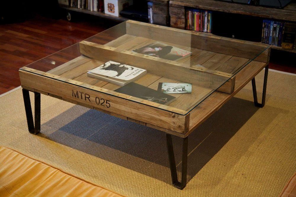 Más de 60 ejemplos de muebles hechos con palets | Pallets, Mesas and ...