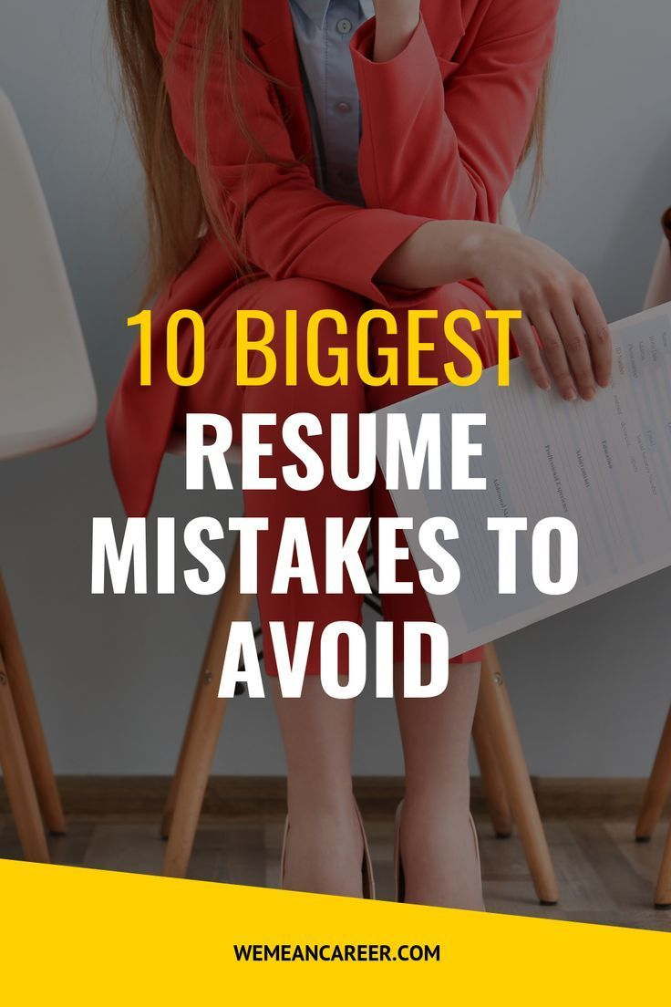 Resume Mistakes Resume writing tips, Resume, Job search