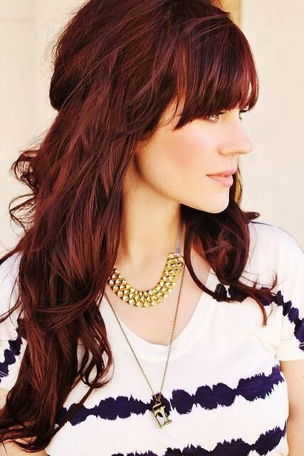 50 Gorgeous Hair Ideas From Pinterest Hair Styles Dark Red Hair Color Red Highlights In Brown Hair