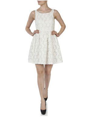 TINKERBELL S/L DRESS WVN, Whisper White, main