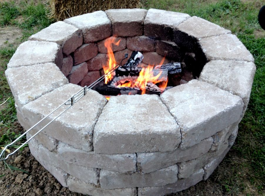 Fast and easy fire pit. stones came from Home Depot and cost less ...