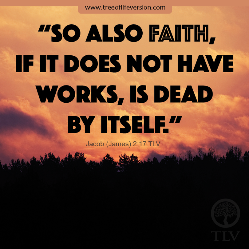 """So also faith, if it does not have works, is dead by itself."" Jacob (James) 2:17 #tlvbible #bible"