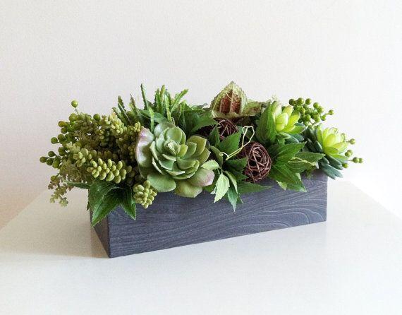 Artificial succulent planter faux succulents planter for Garden arrangement of plants