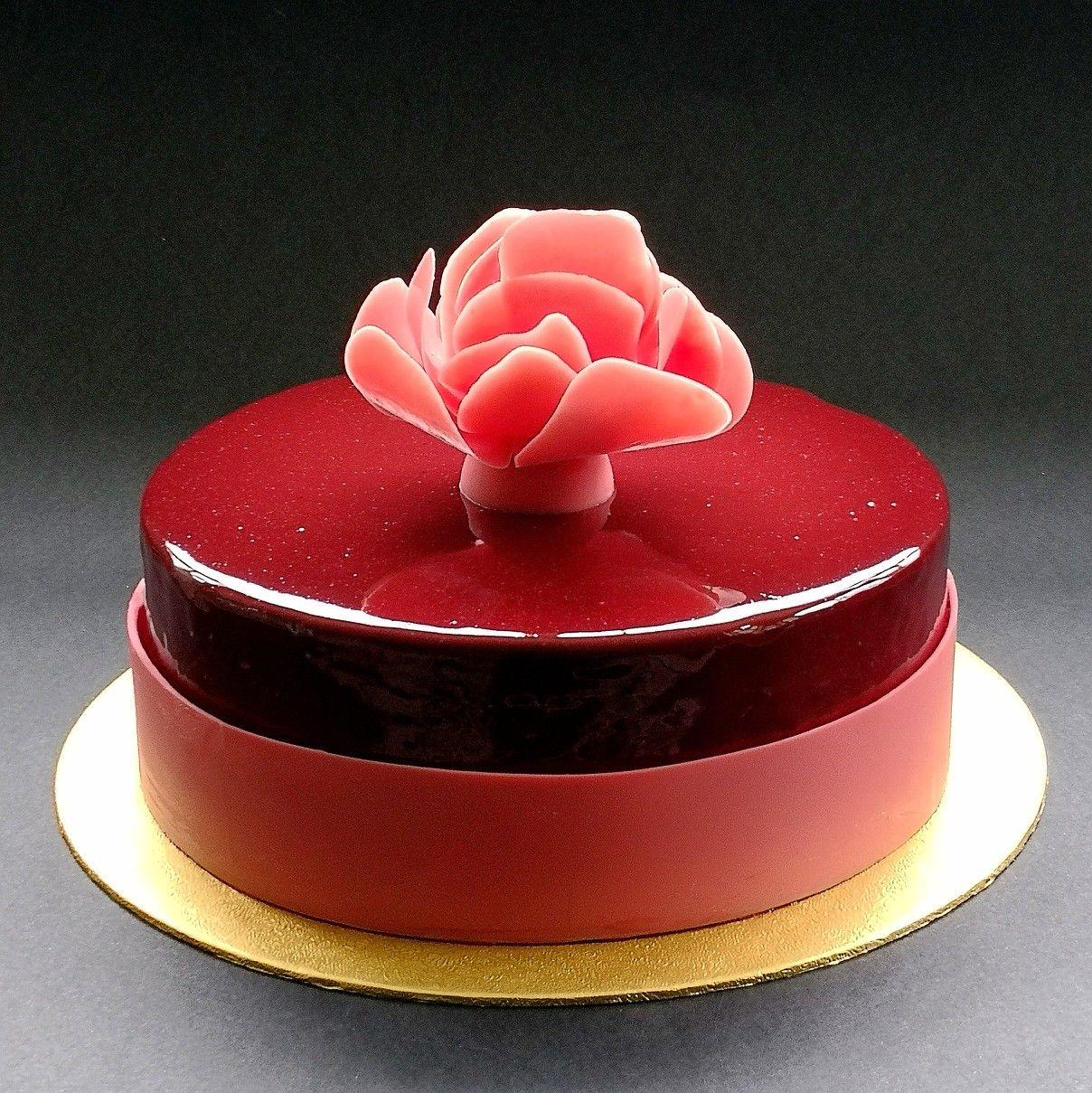 Chocolate sponge cake layered with chocolate mousse, black ...