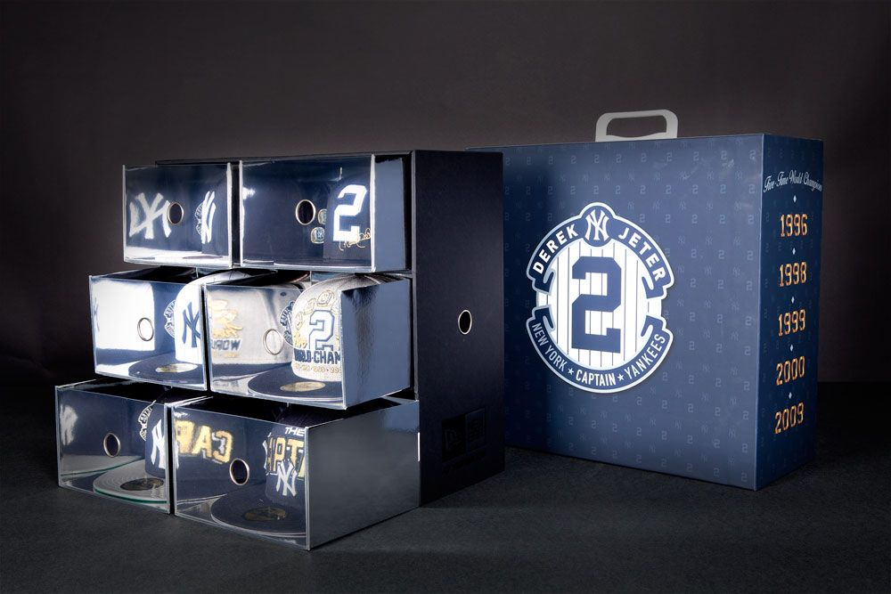 Champs Exclusive Derek Jeter New Ea Limited Edition Hat Box The Drop Champs Sports The Drop Fitted Caps New Era Derek Jeter