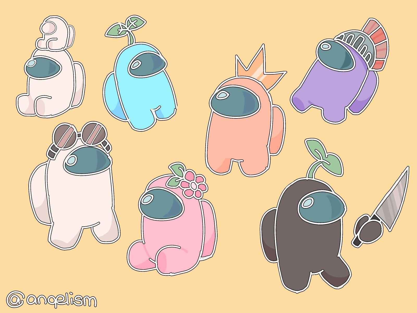 Among Us Cute Cartoon Wallpapers Cute Drawings Wallpaper Iphone Cute