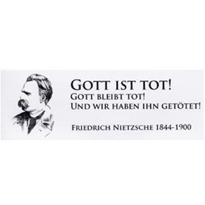 Nietzsche Gott Ist Tot 3 Aufkleber Denkladen Zitate Lustige Spruche Dumme Spruche