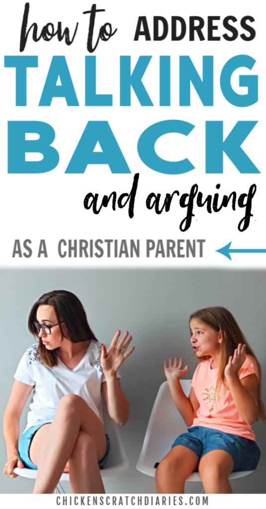 """Photo of Addressing """"Talking back"""": A Biblical Approach for Parents » Chicken Scratch Diaries"""