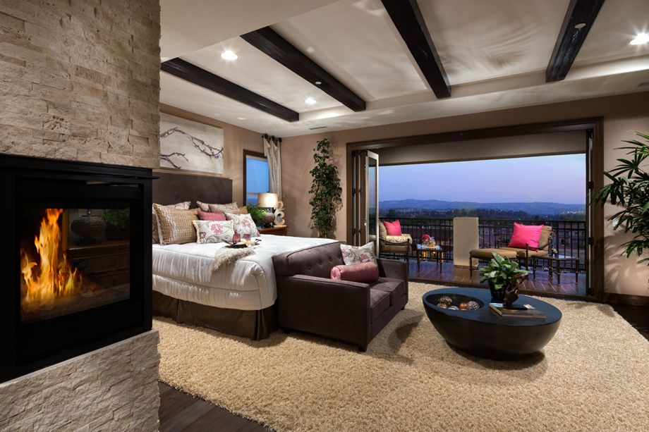 Toll Brothers The Extraordinary Master Bedroom Boasts A Unique Tray Ceiling Entry A Private