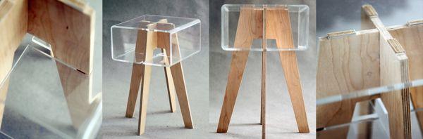 stool by Aleksandra Żeromska, via Behance