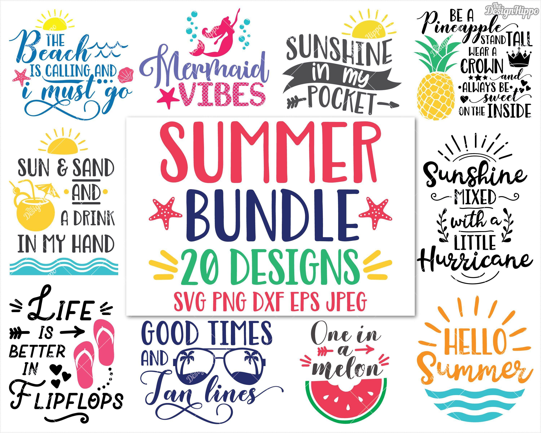 Summer Svg Bundle Designs Beach Svg Bundle Be A Pineapple Etsy Cricut Cricut Projects Vinyl Cricut Crafts