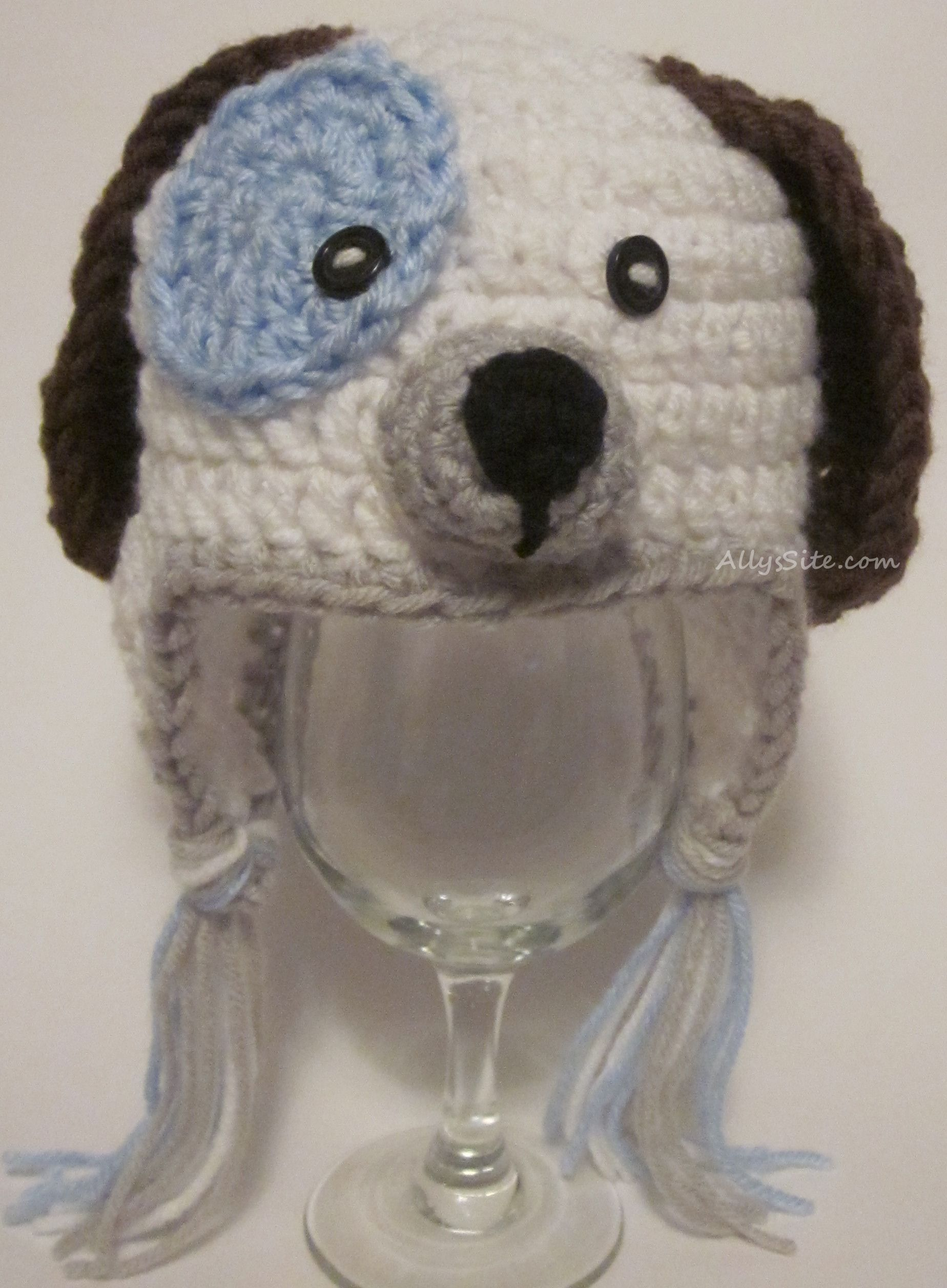 crochet-dog-hat--I like the pattern for the ears | Crocheted hats ...