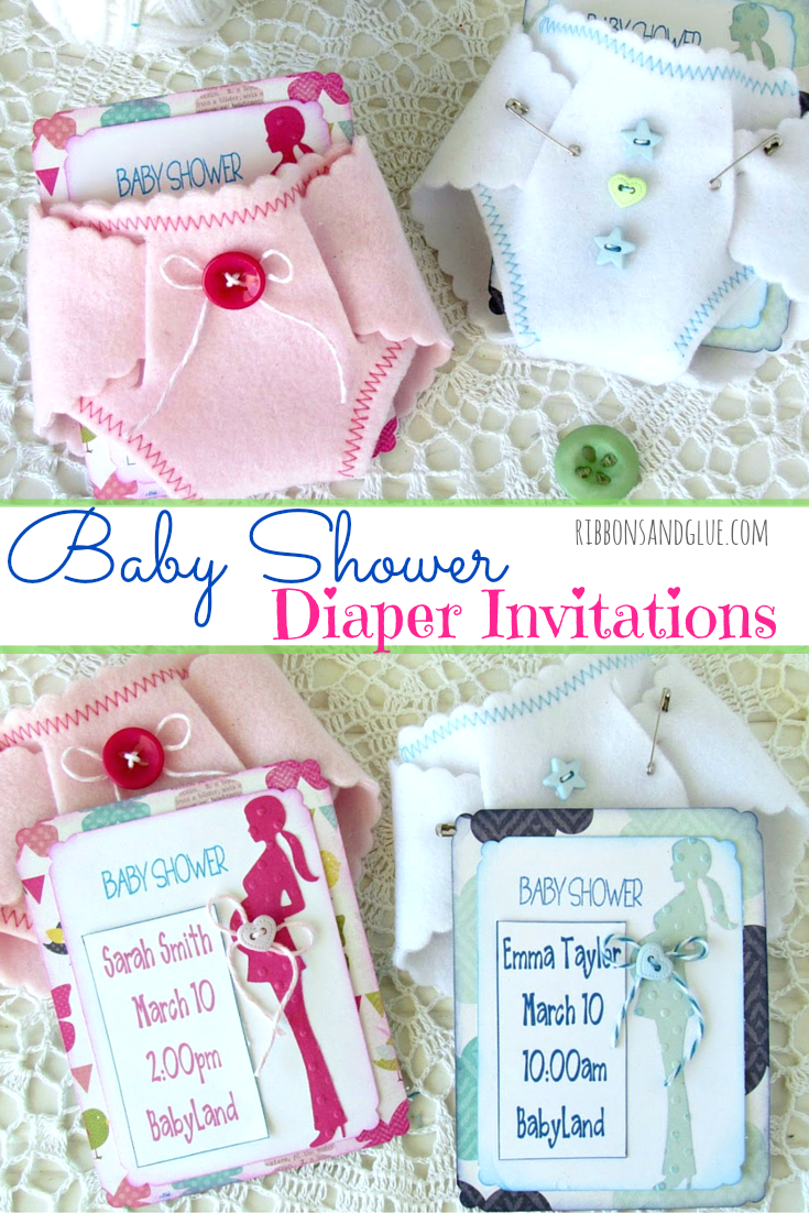 Baby Shower Diaper Invitations Diaper Invitations Diy Baby And
