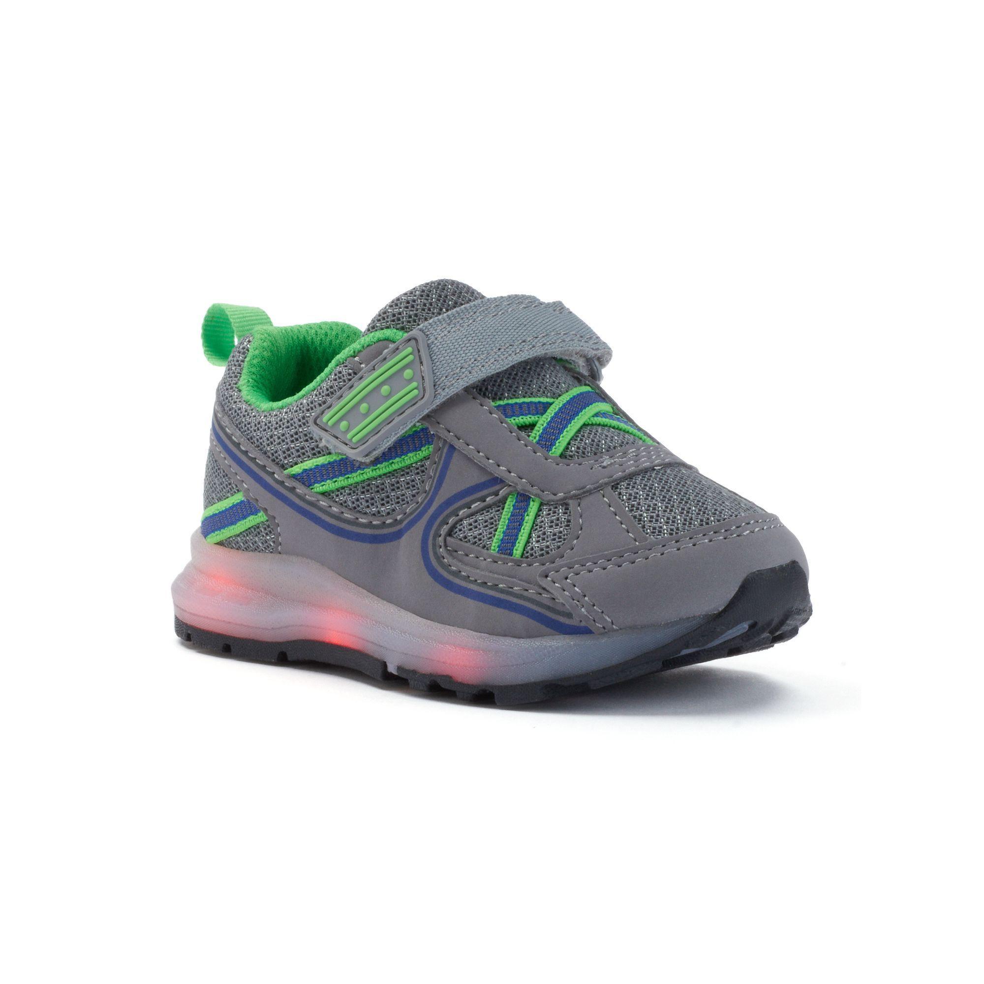 Carter s Excel Toddler Boys Light Up Shoes Size 6 T Med Grey