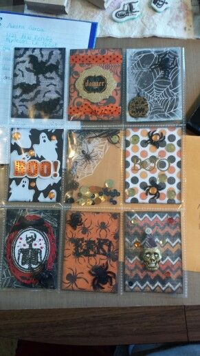 #Halloween pocket letters by Roseann