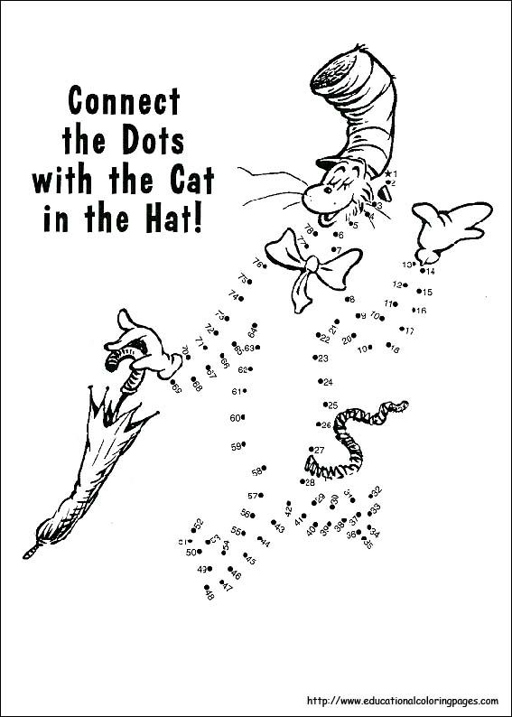 worksheets dr suess Dr Seuss Printable Coloring Pages