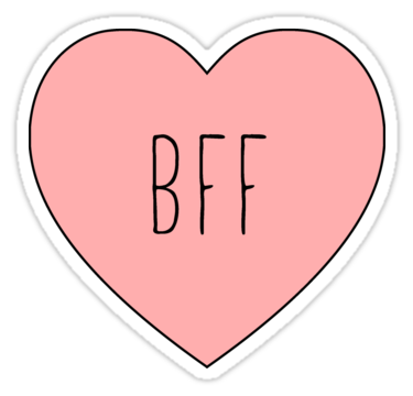 I Love My Bff Best Friend Heart Sticker By Thepinecones Hydroflask Stickers Tumblr Stickers Print Stickers