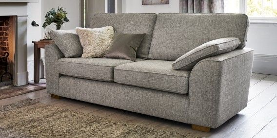 Buy Stamford Large Sofa (3 Seats) Boucle Weave Mid Mink Large Square Angle    Dark From The Next UK Online Shop