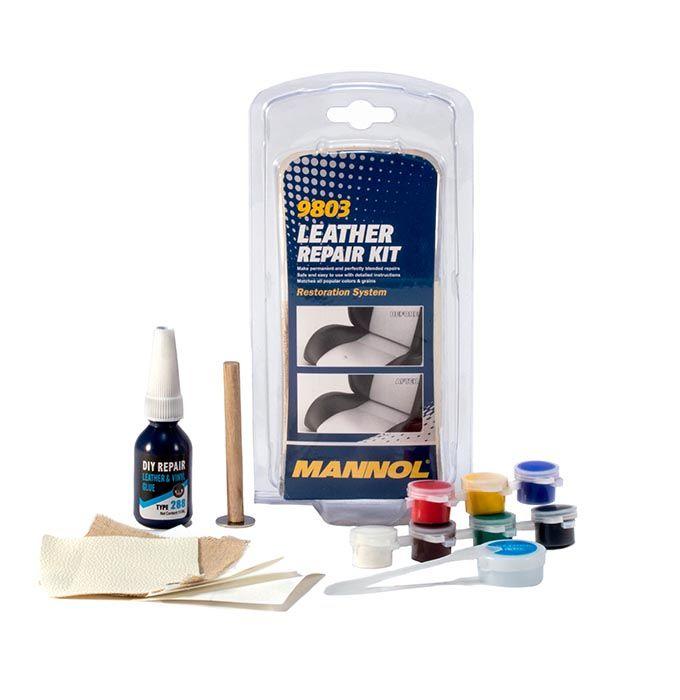 9803 Mannol Kit Episkeyhs Dermatwn Dermatinhs Binilioy Diy Repair Kit Leather Repair Diy Repair Car Accessories