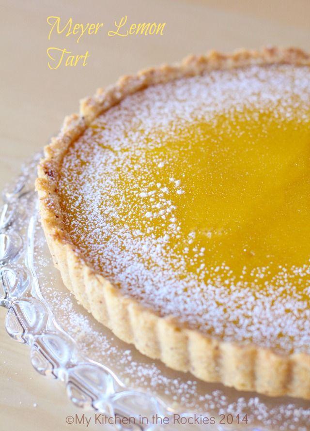 Meyer Lemon Hazelnut Tart  by Kirsten | My Kitchen in the Rockies