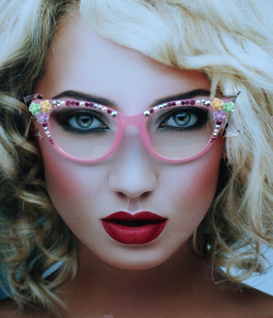 c99f486eccc5 Pink Eye Glasses, Pastel Frosted Acrylic Clear Lens Frames, Prescription  Ready
