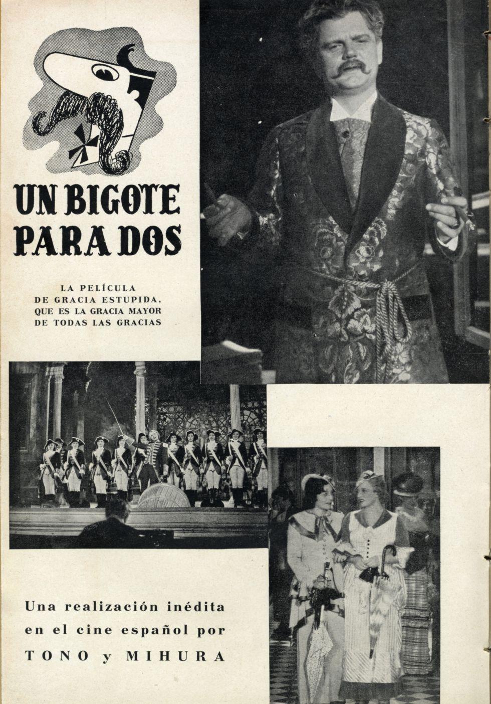 Un bigote para dos (1940), de Tono y Mihura