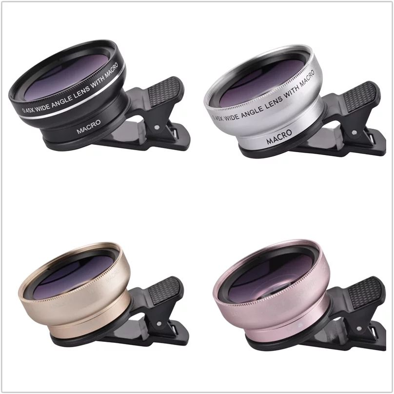fde1035d07329f 0.45X Super Wide Angle Macro Lens Mobile Phone Camera Lens 37mm Digital  Definition Optical Lenses For iPhone 5S 6 7 Plus Samsung //Price: $US $8.09  & FREE ...