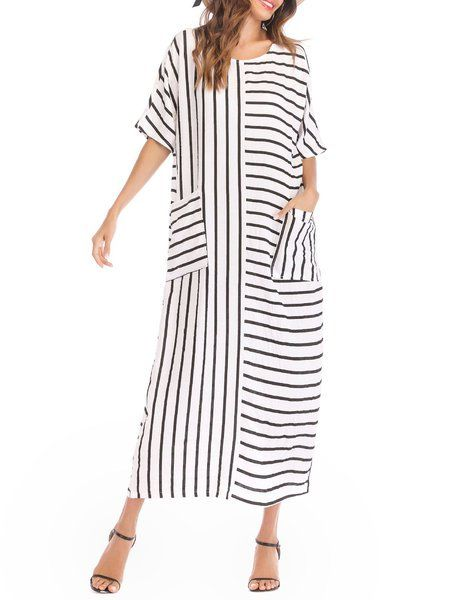 8a902f8fbd9 Buy Casual Dresses For Women at JustFashionNow. Online Shopping  JustFashionNow Plus Size Crew Neck White