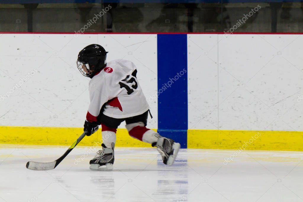 Child Playing Ice Hockey Stock Photo Aff Ice Playing Child Photo Ad Ice Hockey Hockey Hockey Stick